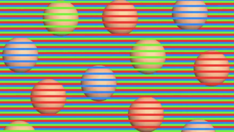 Optikai csalódás: ezek a golyók egyszínűek!