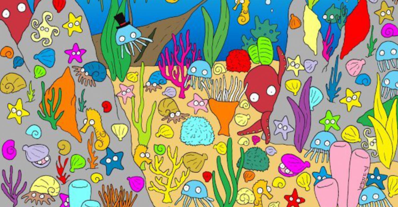 Megtalálod az elrejtett halat a képen?