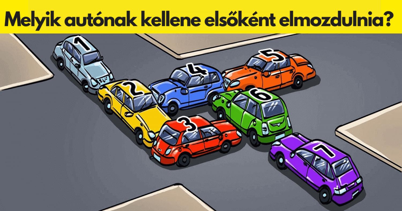 Gyors teszt: melyik autónak kell először elmozdulni, hogy megszűnjön a dugó?