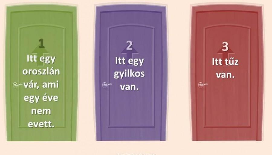 Melyik ajtót kell választanod a túléléshez?