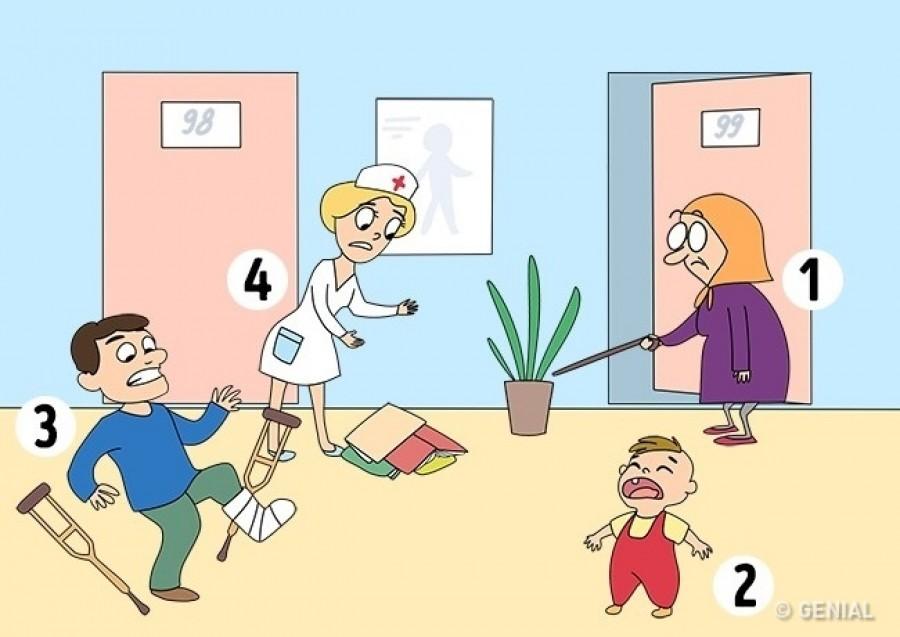 Nézd meg a képet! Kinek segítenél először?