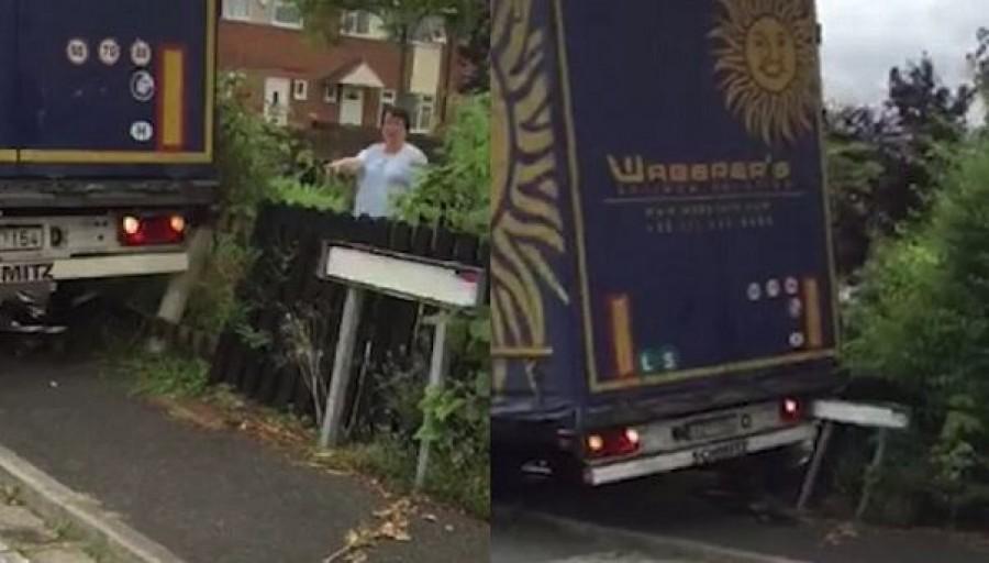 A magyar női kamionsofőr nagy felfordulást okozott az angol kisvárosban